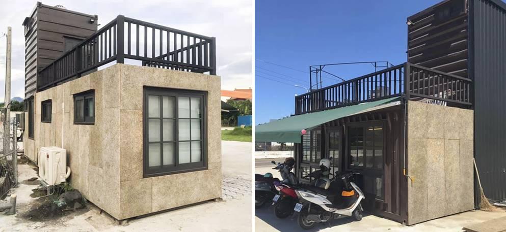 貨櫃開發設計團隊「你的夢想家」位於台灣本島最南端的屏東,在貨櫃屋的西曬面使用鑽泥板,改善夏天太熱的問題。(圖片來源/你的夢想家)