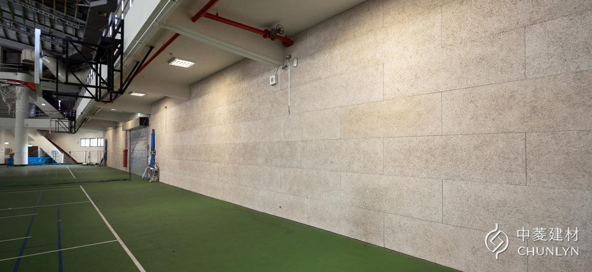 鑽泥板吸音牆案例-桃園元智大學體育館