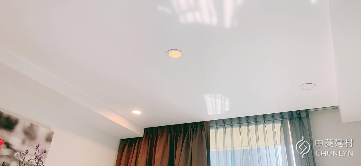 使用矽酸鈣板作為輕鋼架天花板材質的平頂天花板