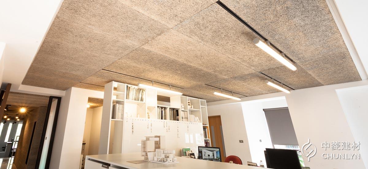 鑽泥板暗架天花板案例-台中辦公室