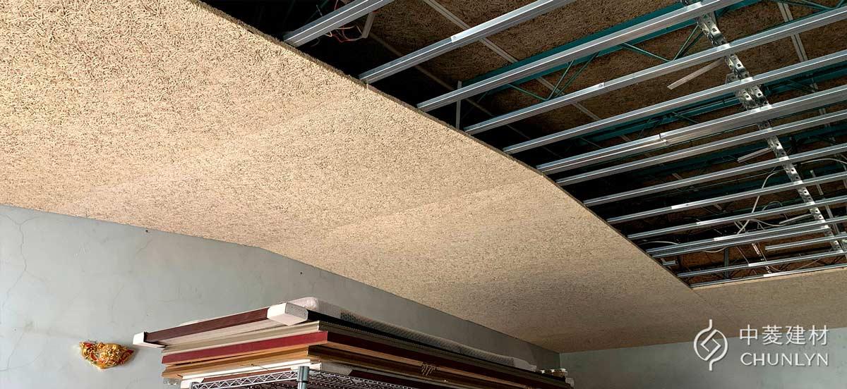 輕鋼架暗架天花板搭配鑽泥板大板片